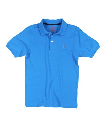 Blue Solid Polo - Toddler & Boys