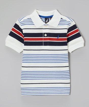 Cream Stripe Polo - Boys