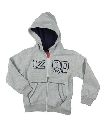 Gray Fleece Zip-Up Hoodie - Boys