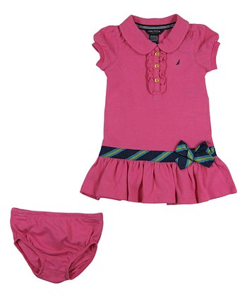 Pink Piqué Polo Dress - Infant, Toddler & Girls