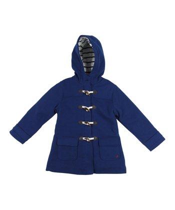 Medium Navy Toggle Swing Coat - Infant, Toddler & Girls
