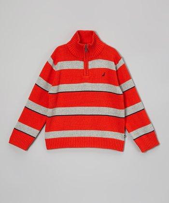 Vermilion Stripe Pullover - Infant & Boys