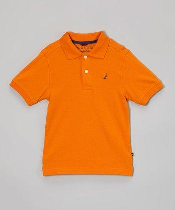 Orange Polo - Infant, Toddler & Boys