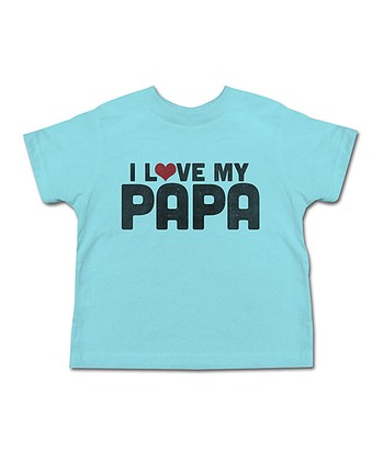 Aqua 'I Love My Papa' Tee - Toddler & Kids
