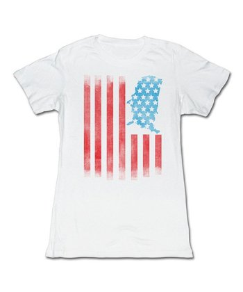 White United States Flag Tee