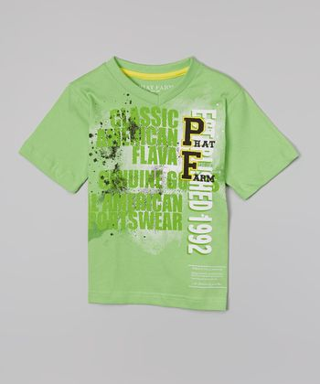 Lime 'Classic American Flava' V-Neck Tee - Toddler & Boys