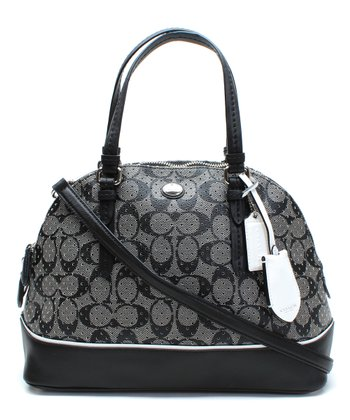 Black & White Domed Peyton Satchel