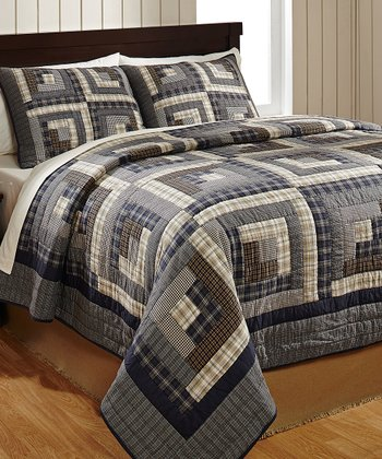 American Log Cabin Quilt Set