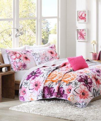 Pink Olivia Coverlet Set