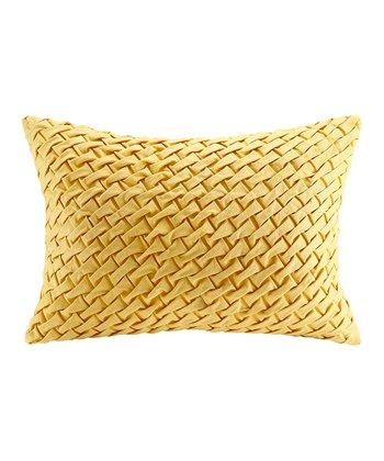 Yellow Weave Oblong Pillow