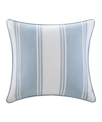 Blue & White Stripe Square Pillow