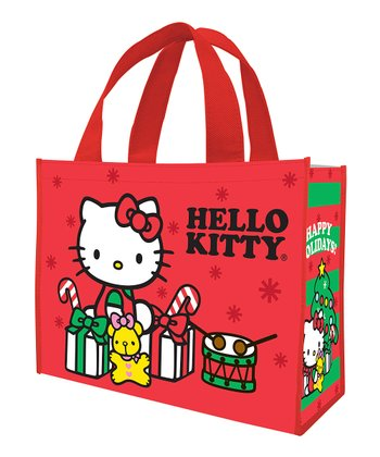 Red Hello Kitty Holiday Shopping Tote - Set of Two