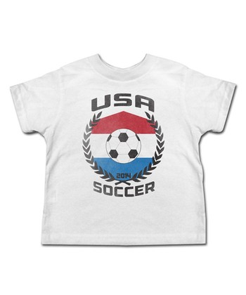 White 'USA Soccer' Tee - Toddler & Kids