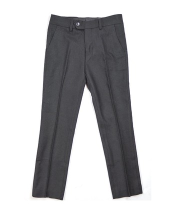 Black Classic Pleated Pants - Toddler & Boys