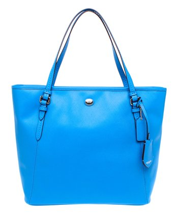 Cerulean Zip Peyton Leather Tote
