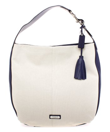 Natural & Indigo Avery Convertible Hobo