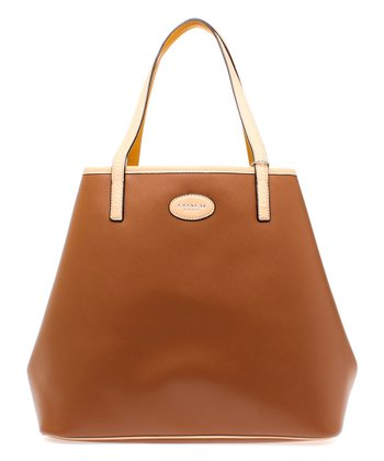 Saddle Brown Park Metro Leather Tote
