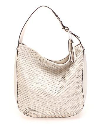 Parchment Business Woven Leather Shoulder Bag