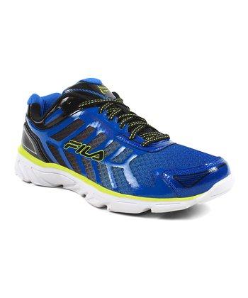 Blue & White Memory Aerosprinter 2 Running Shoe
