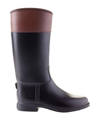 Black & Brown Carla Rain Boot