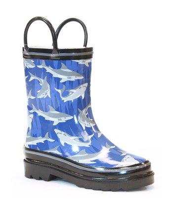Blue Shark Bite Rain Boot