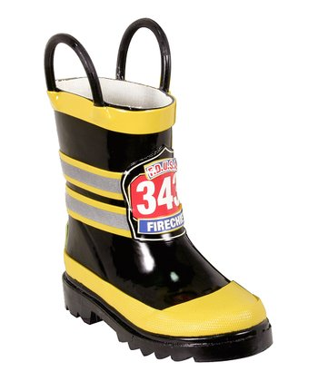 Black FDUSA Rain Boot