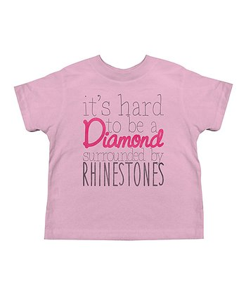 Pink 'It's Hard to Be a Diamond' Tee - Toddler & Girls
