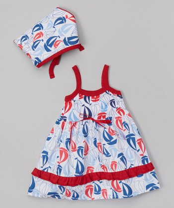 Nantucket Sails Lily Dress & Headscarf - Infant & Toddler