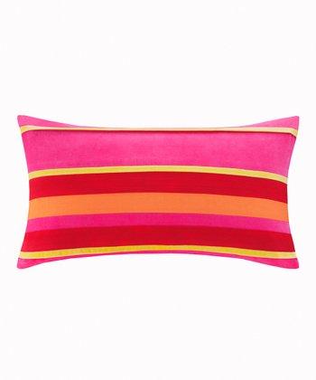 Pink & Red Decoiserie Oblong pillow