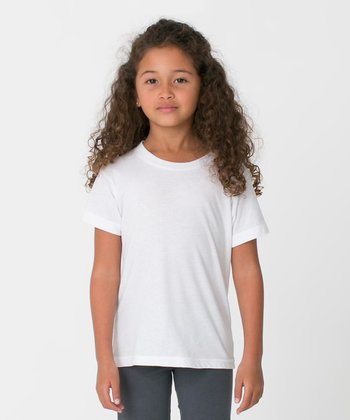 White Tee - Toddler & Kids