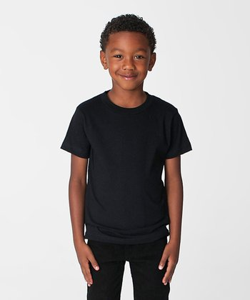 Black Organic Tee - Toddler & Kids