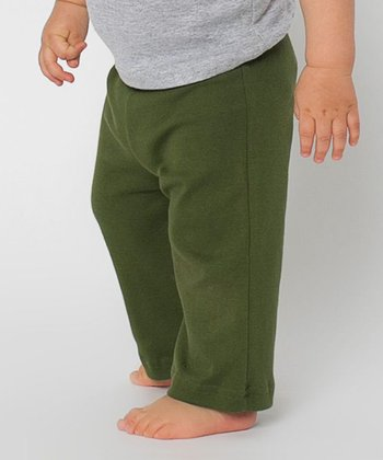 Olive Karate Pants - Infant