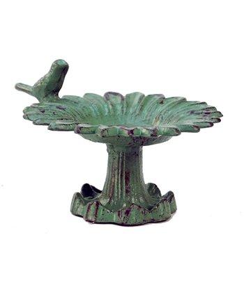 Distressed Green Bird Feeder Jewelry Holder