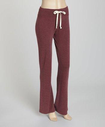 Cabernet Basic Flare Drawstring Pants - Petite