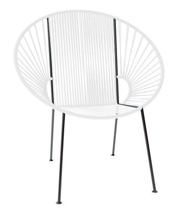 White & Black Concha Chair