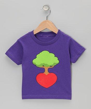 Purple Heart Root Tree Tee - Infant, Toddler & Kids