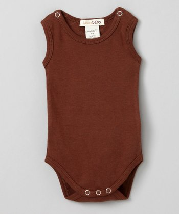 Out-on-the-Town Brown Sleeveless Bodysuit - Infant