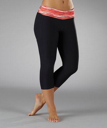 Firey Coral Solar Ultimatum Cropped Pants