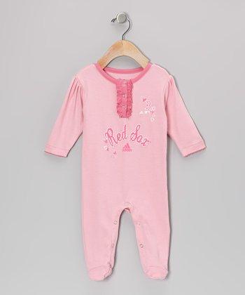 Pink Red Sox Princess Footie - Infant