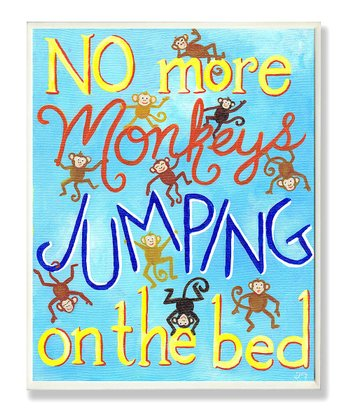 stupell industries no more monkeys jumping on the bed wall. Black Bedroom Furniture Sets. Home Design Ideas