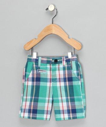 Kingfisher Plaid Shorts - Boys