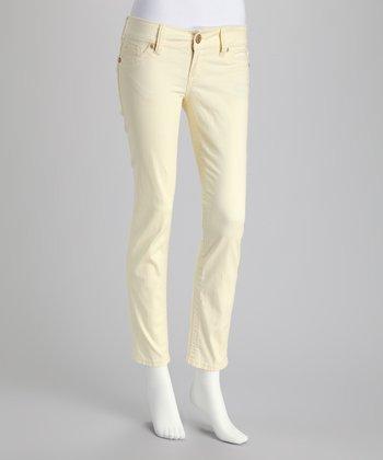 Pale Yellow Skinny Pants