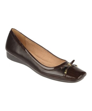 Oxford Brown Vision Leather Flat