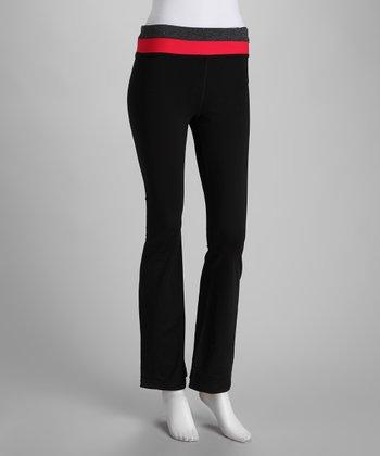 Black & Fuchsia Yoga Pants