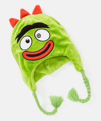 Green Brobee Fleece Earflap Beanie
