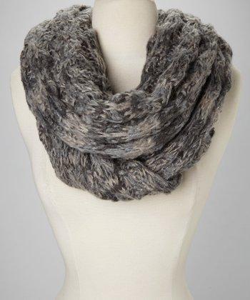 Gray Knit Scarf