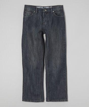 Dark Chrome Wide-Leg Jeans - Boys