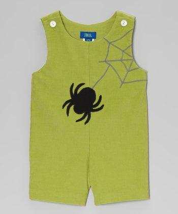 Green Spider Shortalls - Infant & Toddler