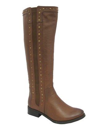 Rust Studded Tiara Boot