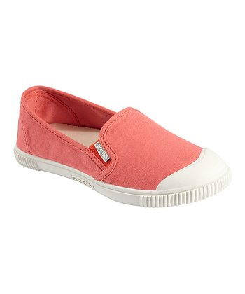 Hot Coral Maderas Slip-On Shoe - Women